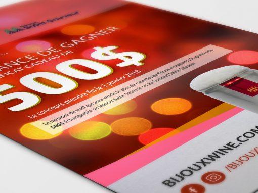 Carton A5 Bijoux Wine concours