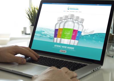 Site bouteilles d'eau personnalisées 2